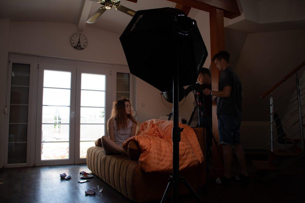 Fotografie natáčení ranní scény